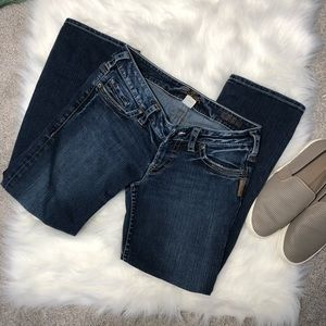 Silver Jeans | Santorini Capri Crop Blue Jeans